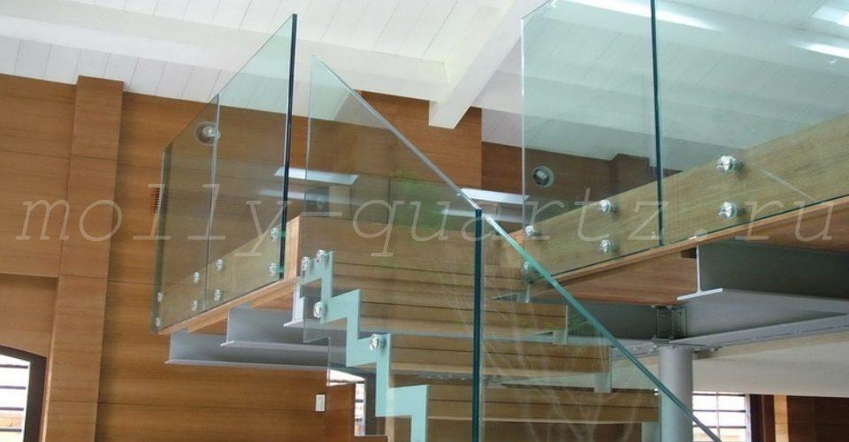 каленое стекло для лестниц