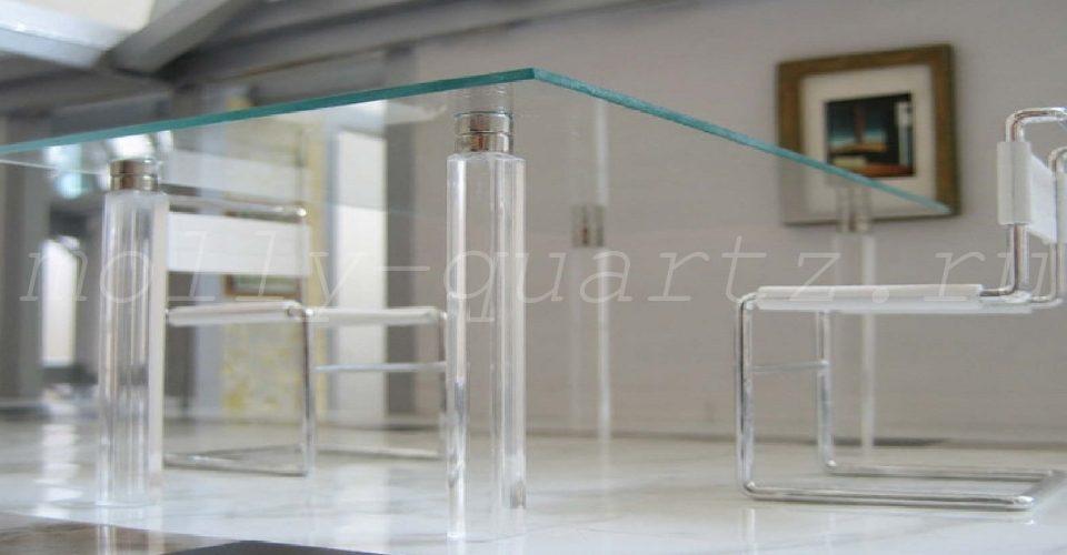 пример использования закаленного стекла стол стул фото