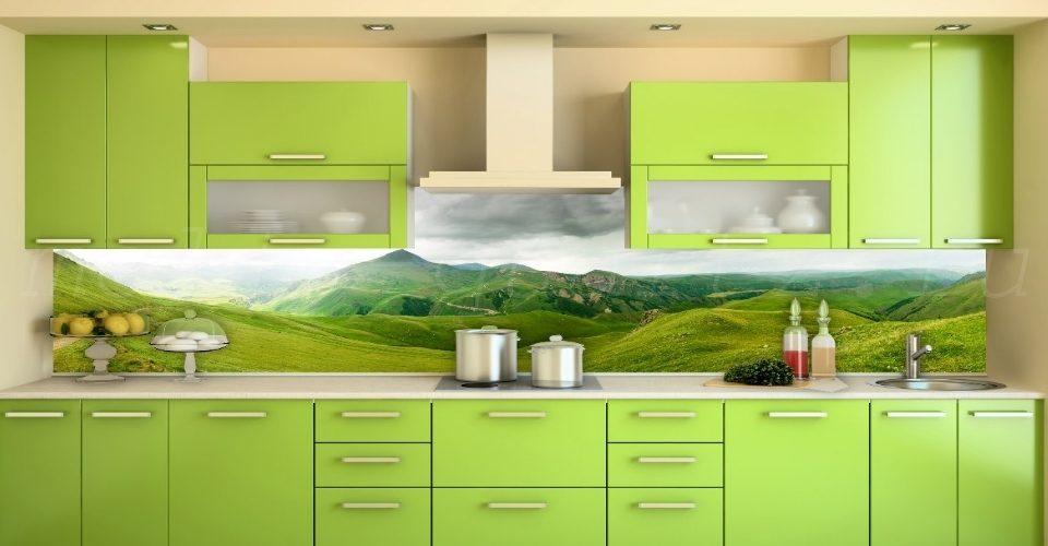 как выглядит закаленное стекло на кухне