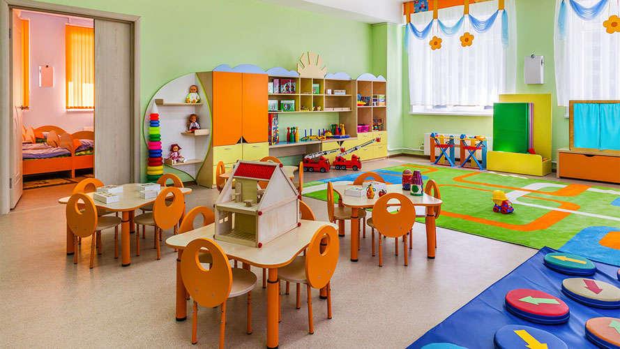 Детский сад и бактерицидная лампа